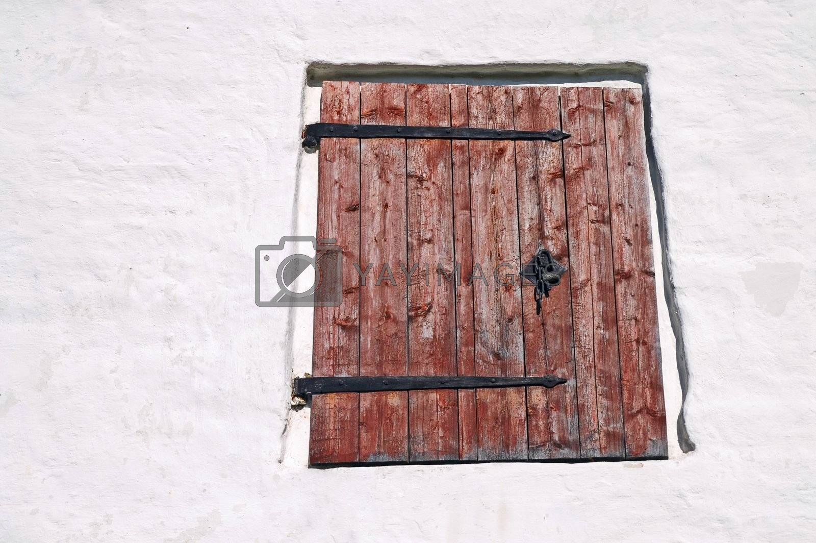 Window Shutter in Ancient Russian Monastery
