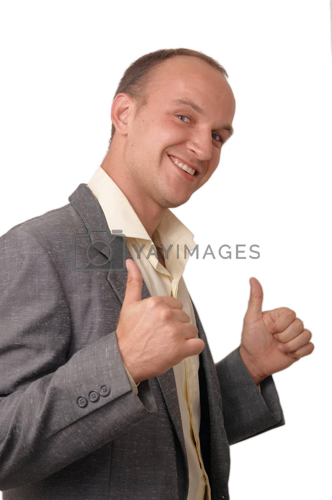 Royalty free image of A smiling  young man . by karasikvitaliy