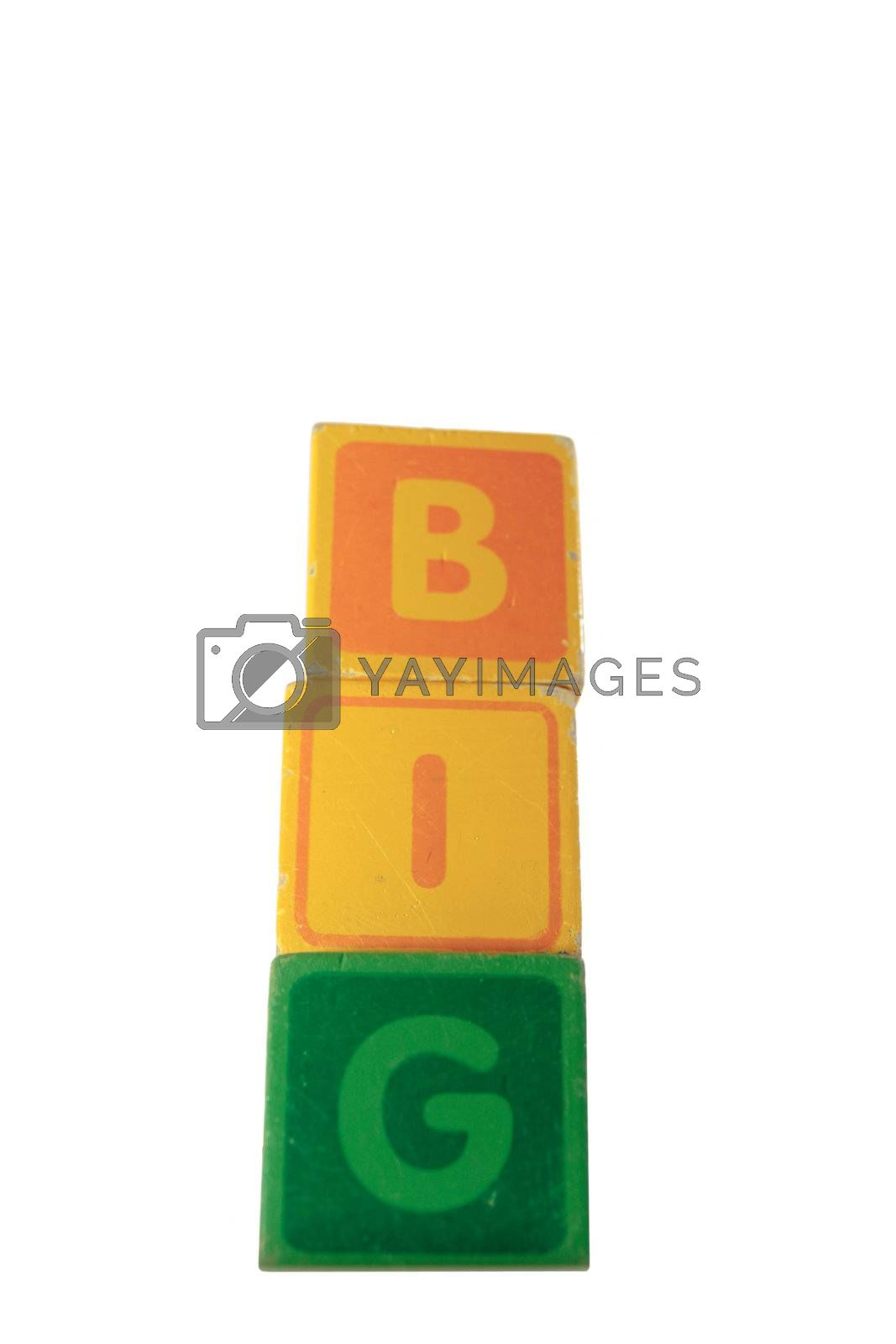 Royalty free image of big assorted toy play blocks by morrbyte