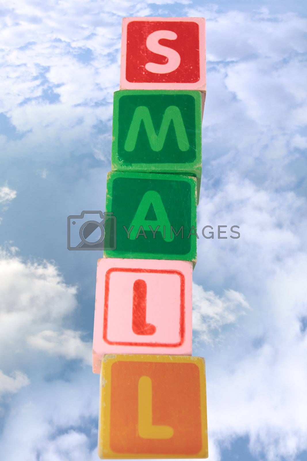 Royalty free image of small assorted toy childrens play blocks with clipping path by morrbyte
