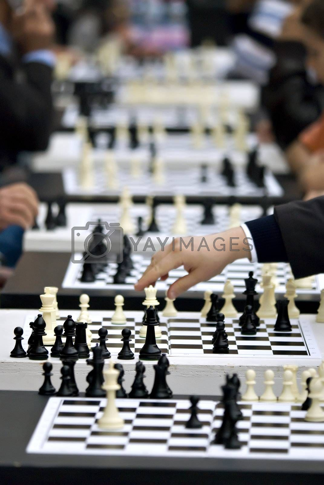 Royalty free image of Public Chess tournament by AlessandroZocc