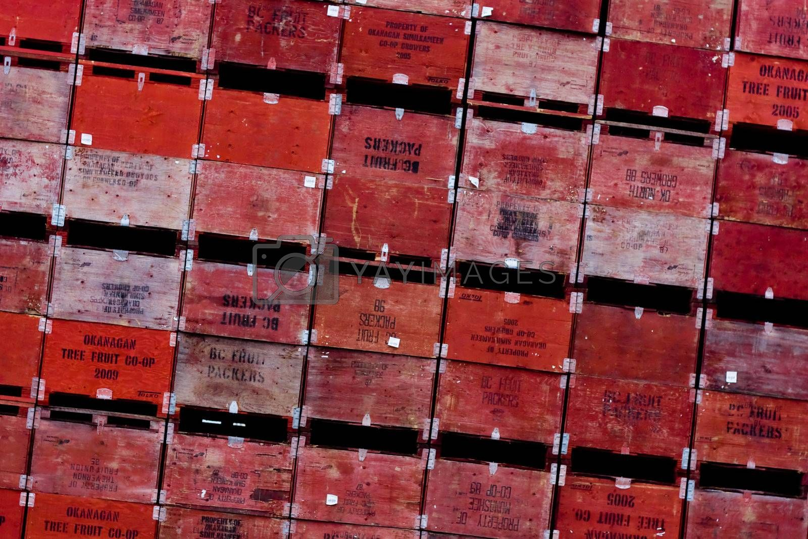 Royalty free image of Boxes wall  by toliknik