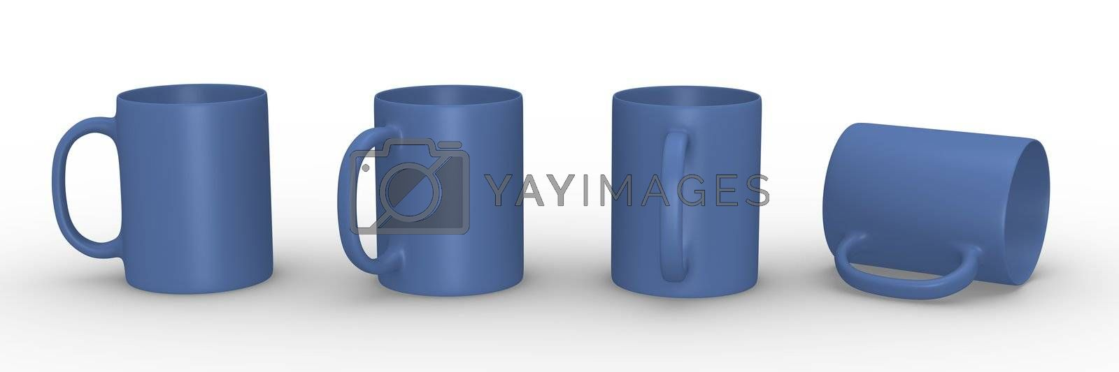 Royalty free image of Blue mugs by bayberry