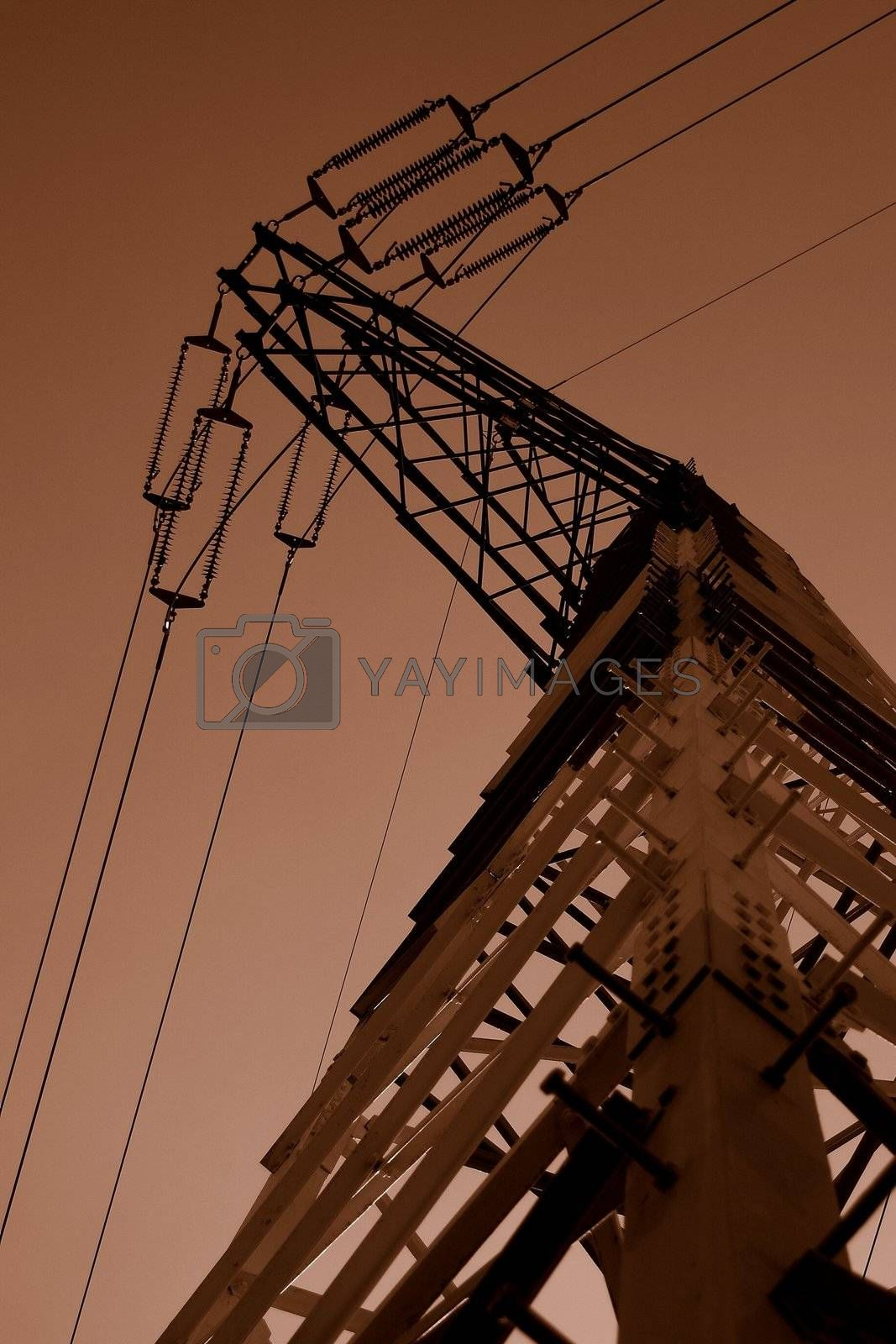 Royalty free image of Electricity pylon by ebrom