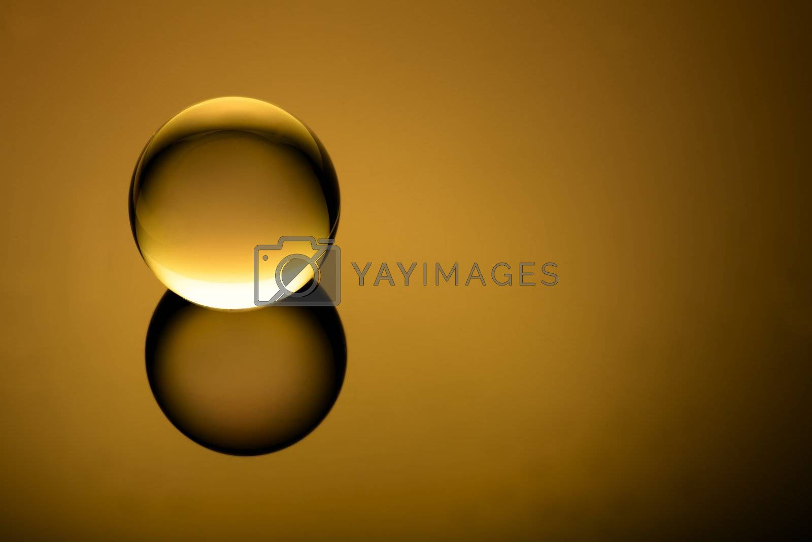 Royalty free image of Crystal clear globe on gradient  by ralanscott