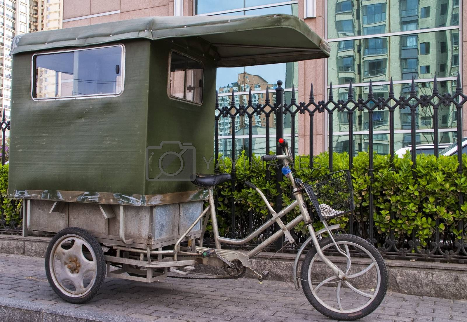 Royalty free image of Beijing bike taxi. by Claudine