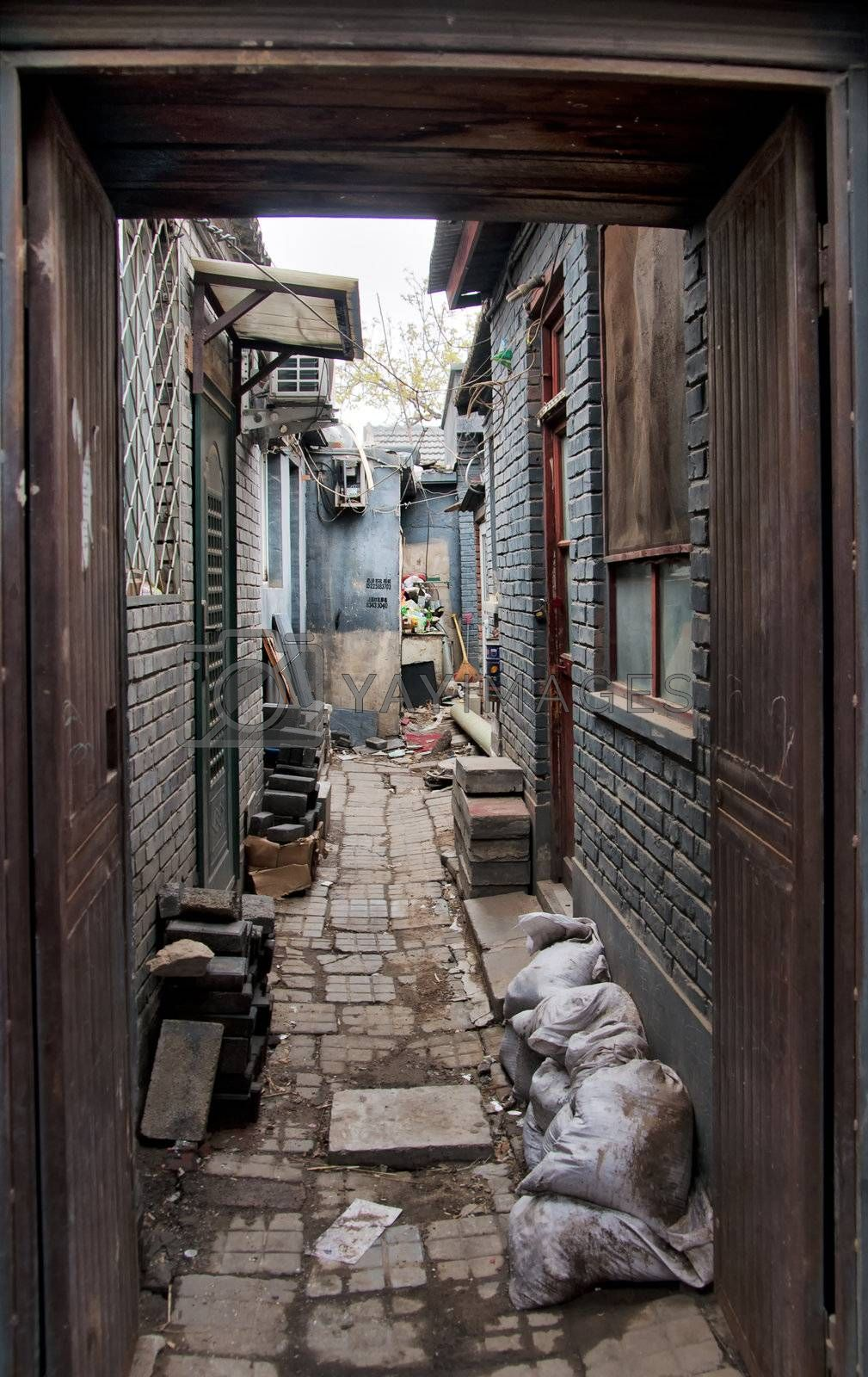 Royalty free image of Beijing Hutong by Claudine