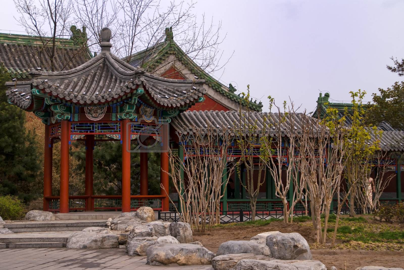 Royalty free image of Beijing Restaurant Entrance. by Claudine
