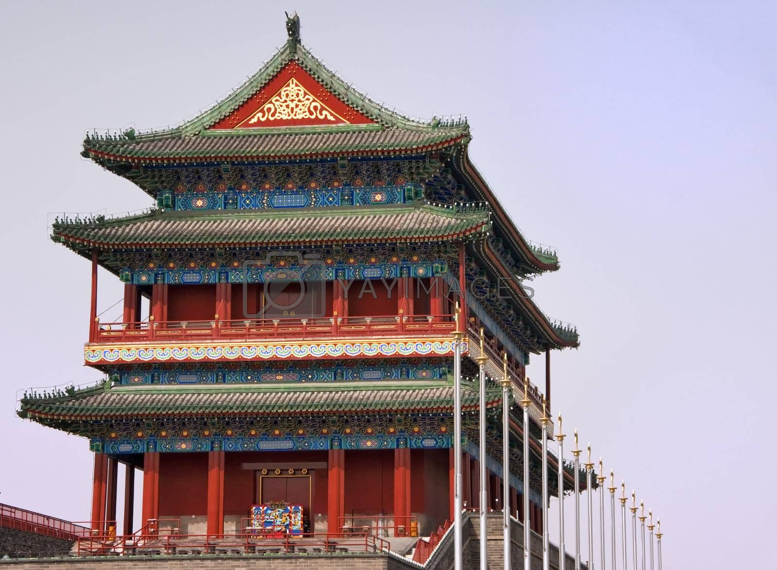 Royalty free image of Beijing Tiananmen Temple. by Claudine