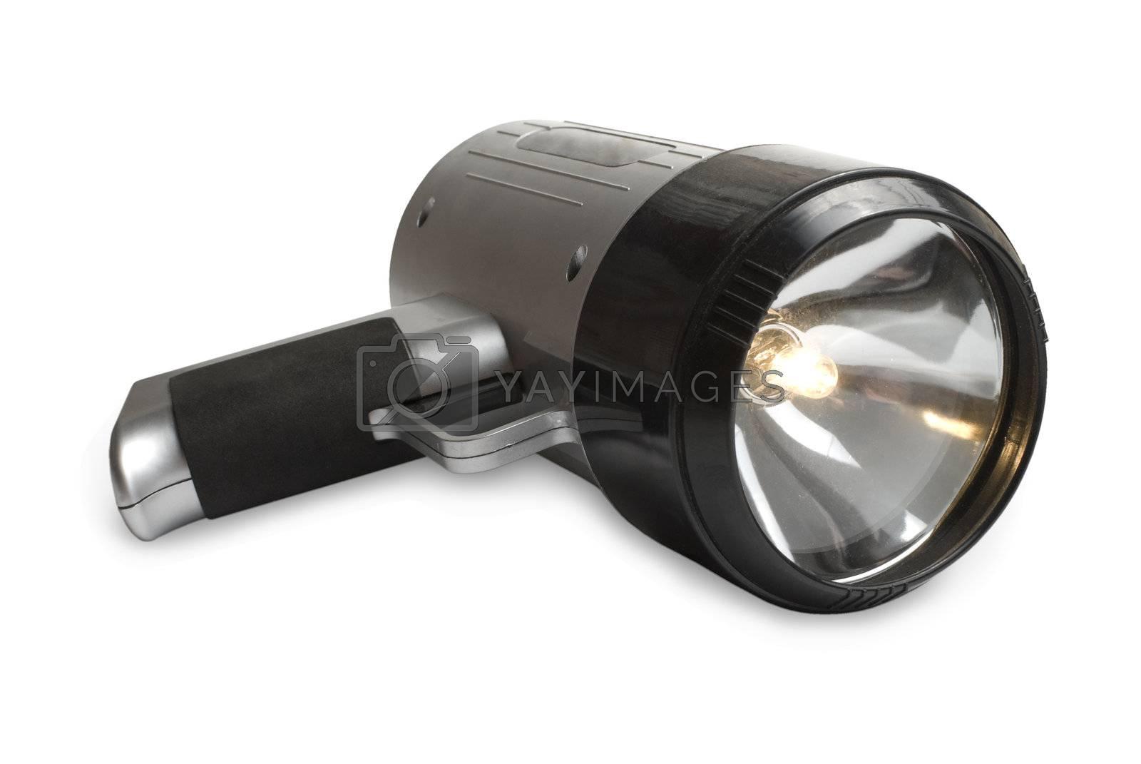Royalty free image of Big flashlight | Isolated by zakaz