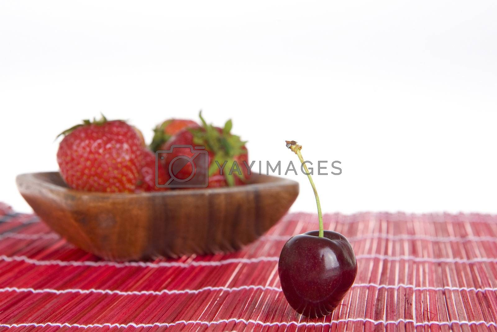 Royalty free image of cherries by Gabees