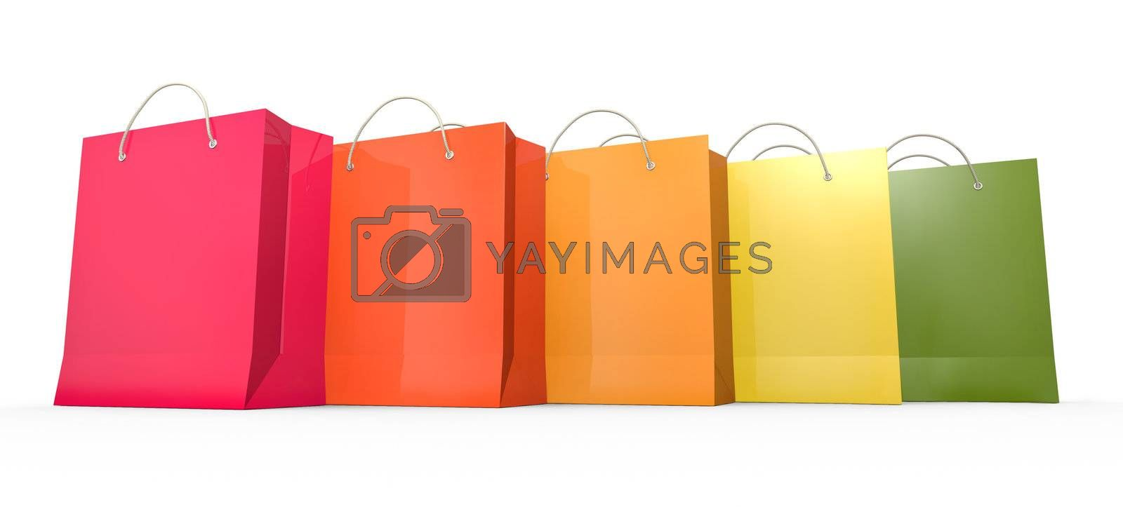 Royalty free image of Five shopping bags by bayberry