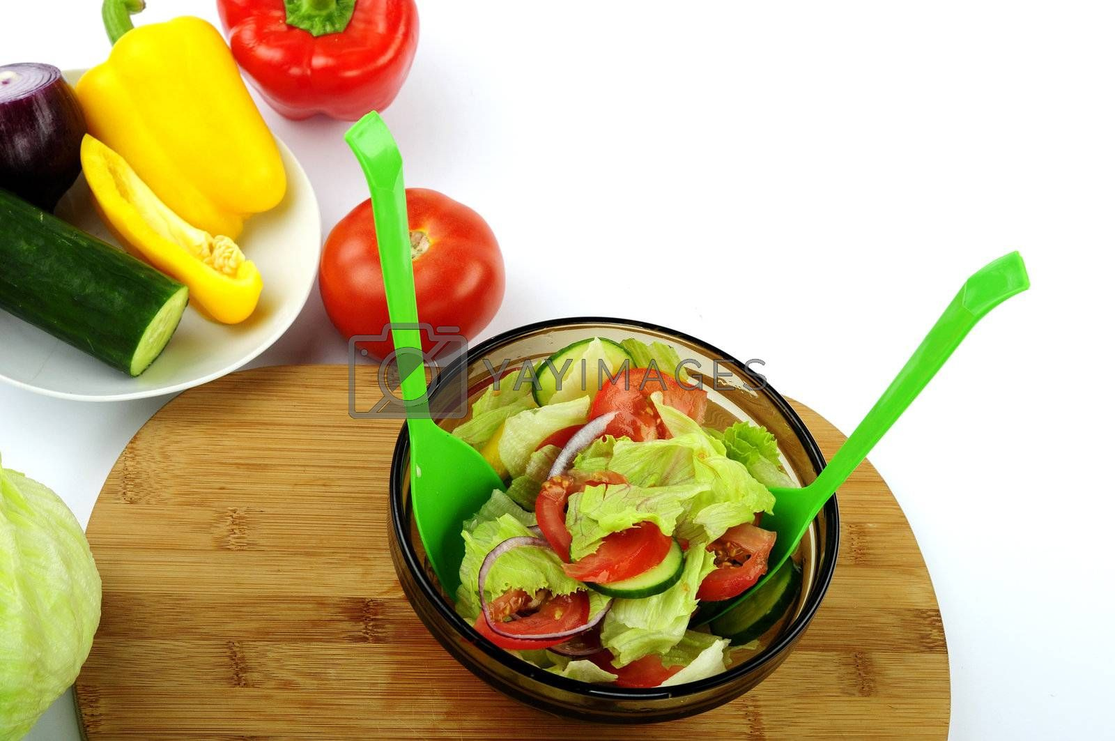 Royalty free image of salad by dundersztyc