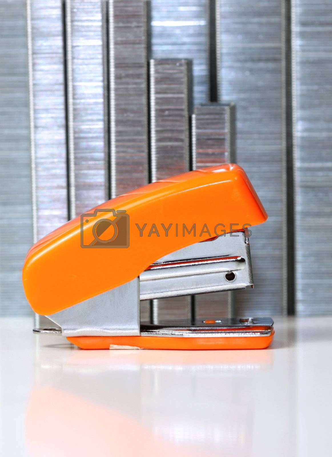 Royalty free image of Stapler and staples by snehit