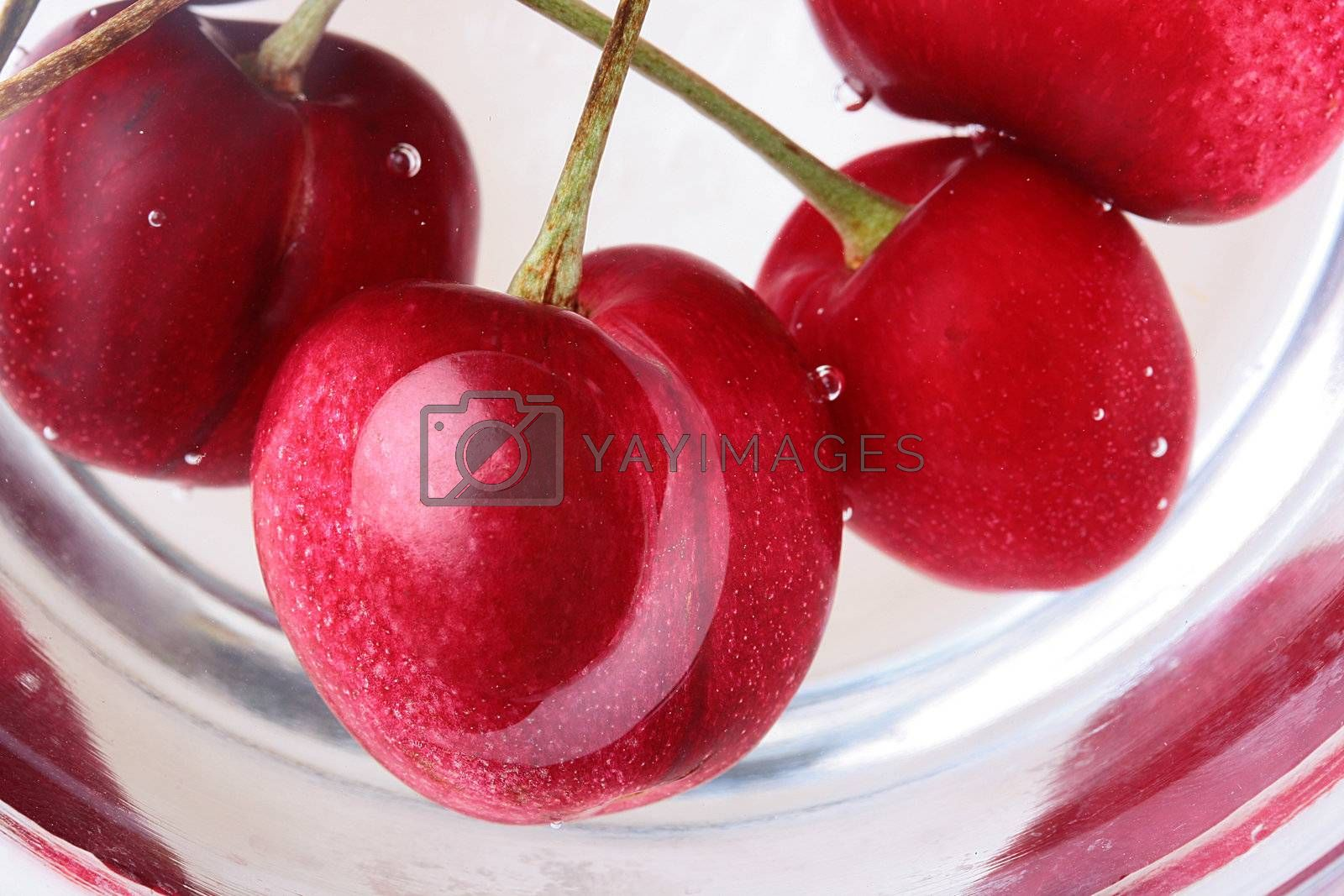Royalty free image of Red cherries by VIPDesignUSA