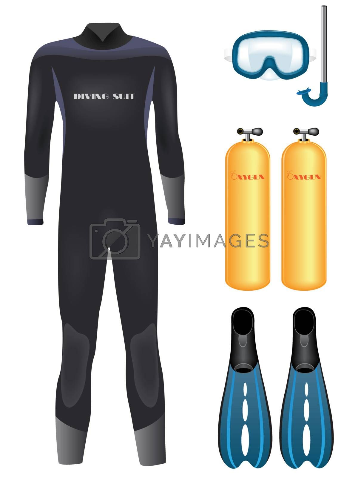 Royalty free image of Diving equipment by gladcov