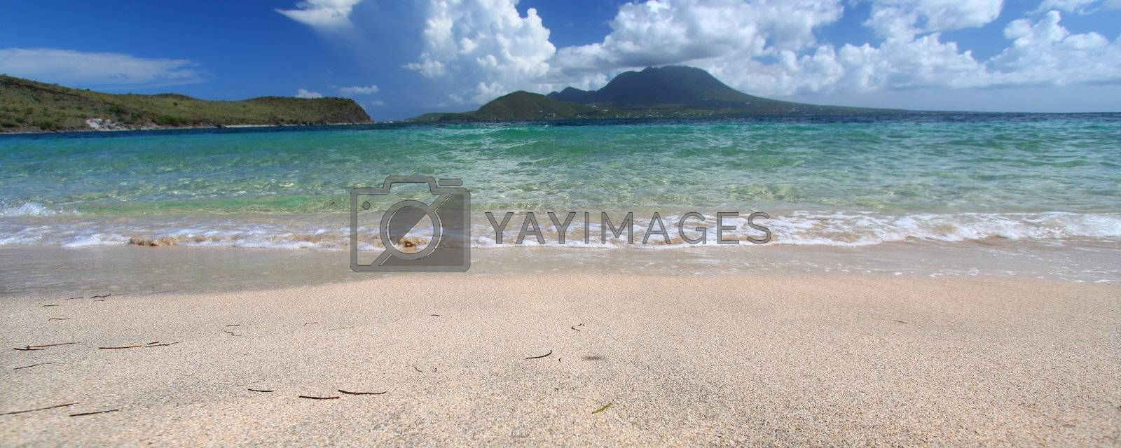 Royalty free image of Beautiful beach on Saint Kitts by Wirepec