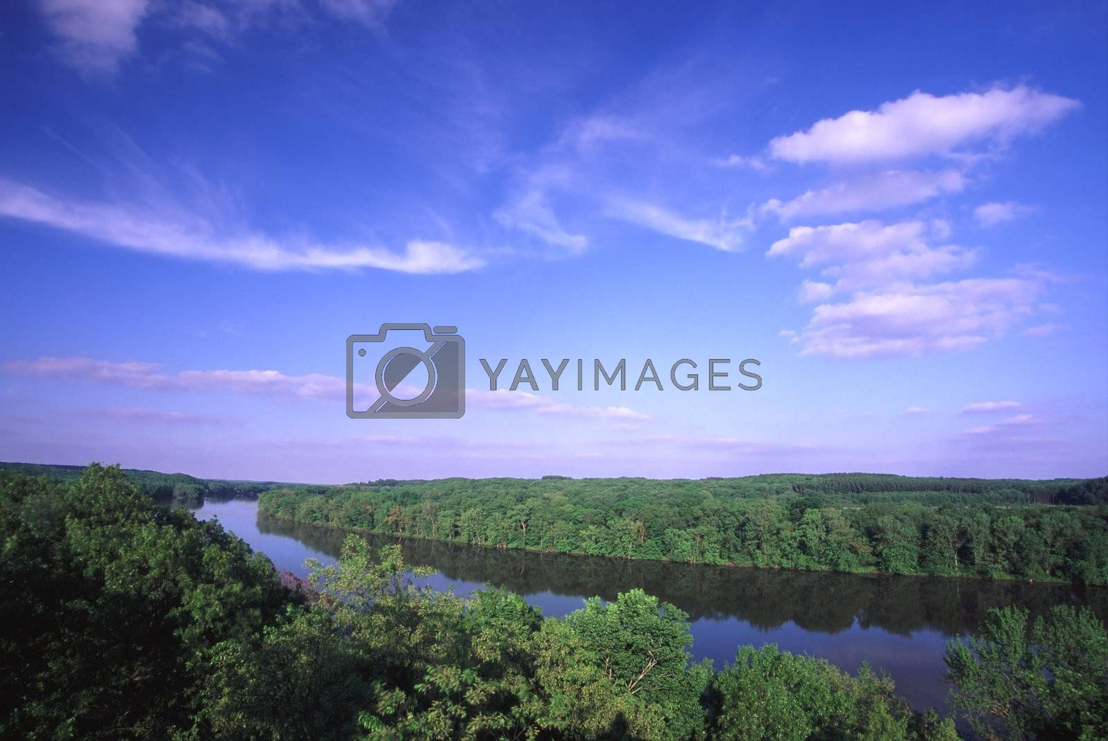 Royalty free image of Rock River Valley - Illinois by Wirepec