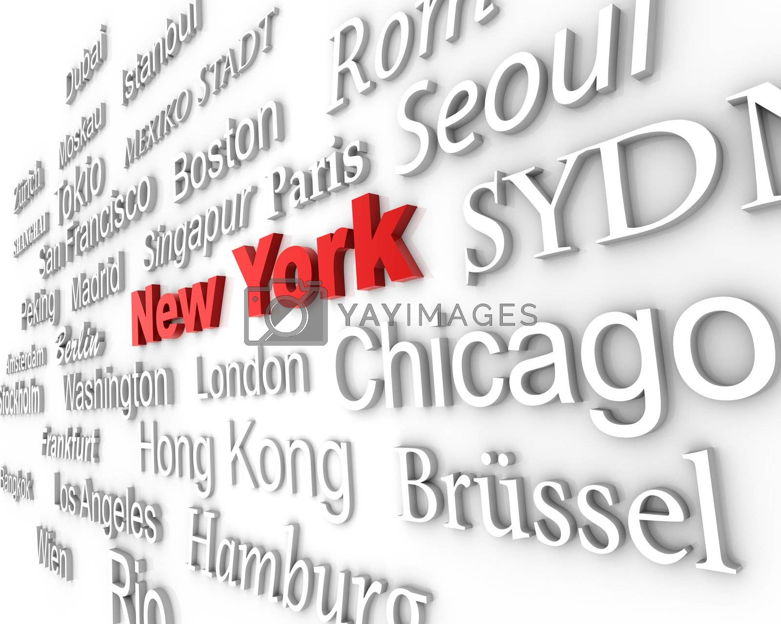 Royalty free image of Metropolis New York by froxx