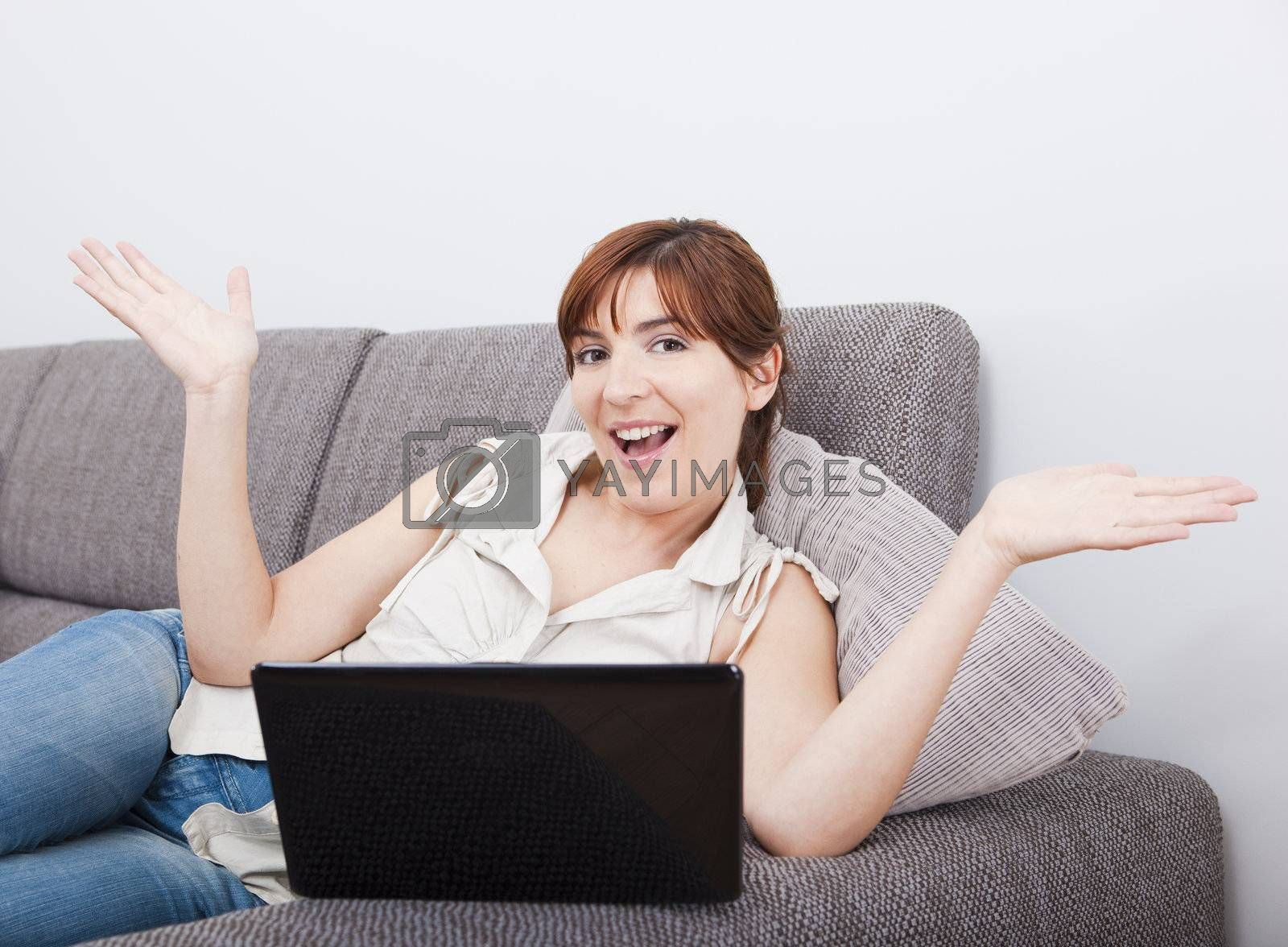 Royalty free image of Working with a laptop by Iko