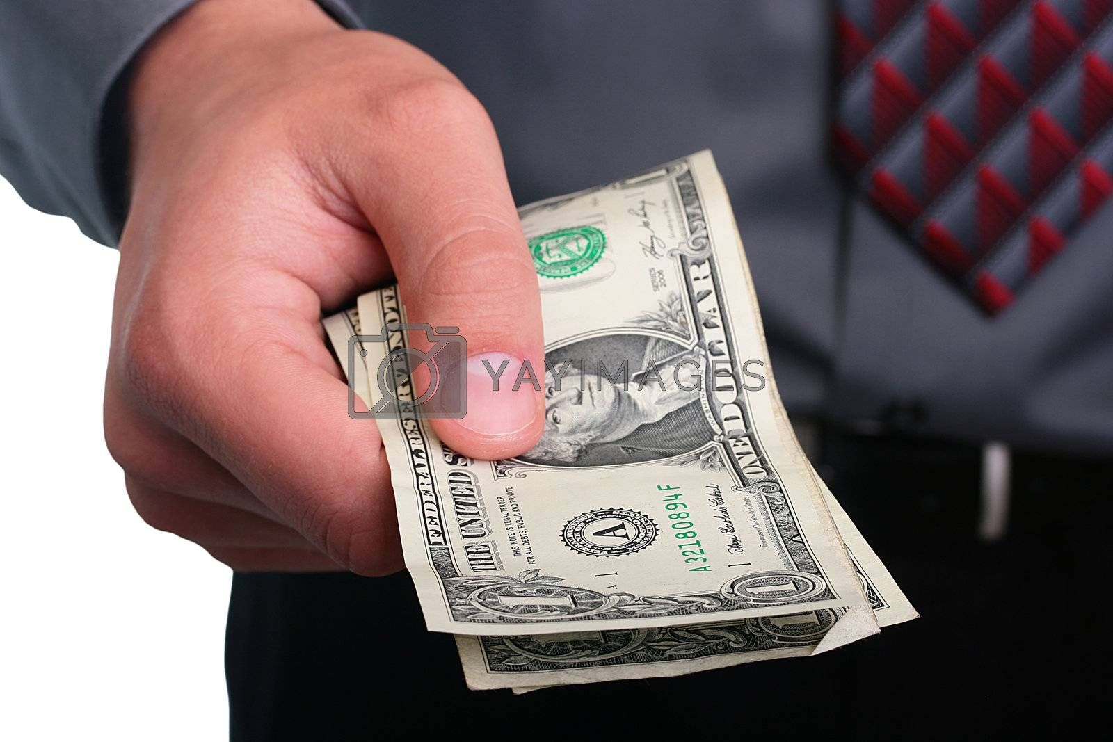 Royalty free image of Businessman and money by VIPDesignUSA