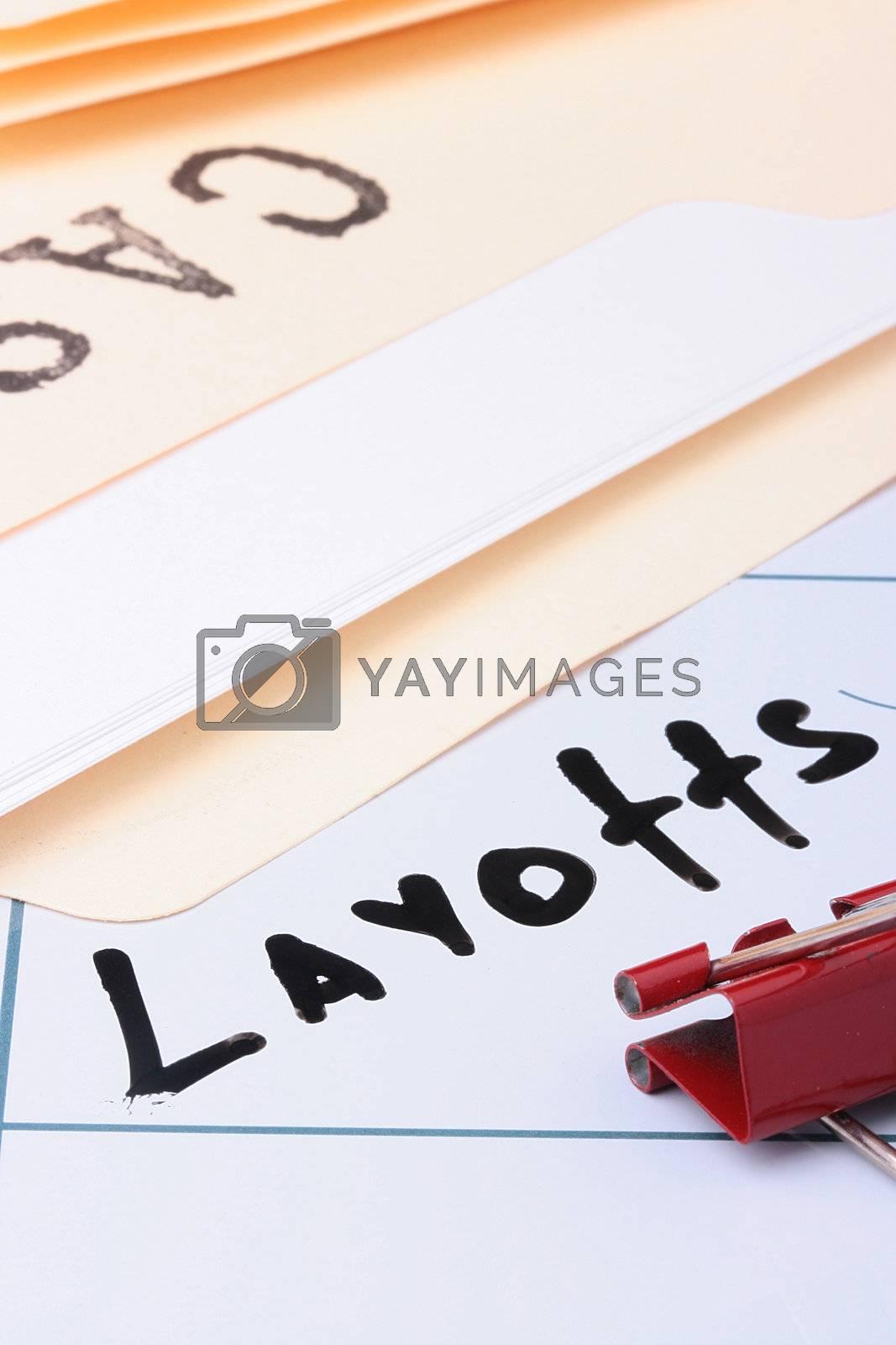 Royalty free image of Layoffs by VIPDesignUSA