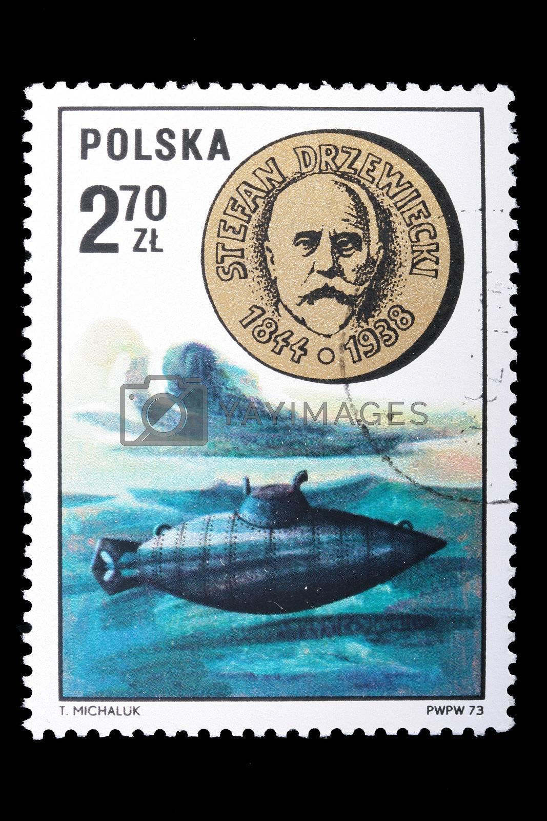 Royalty free image of Poland - CIRCA 1973: A stamp Stefan Drzewiecki by VIPDesignUSA