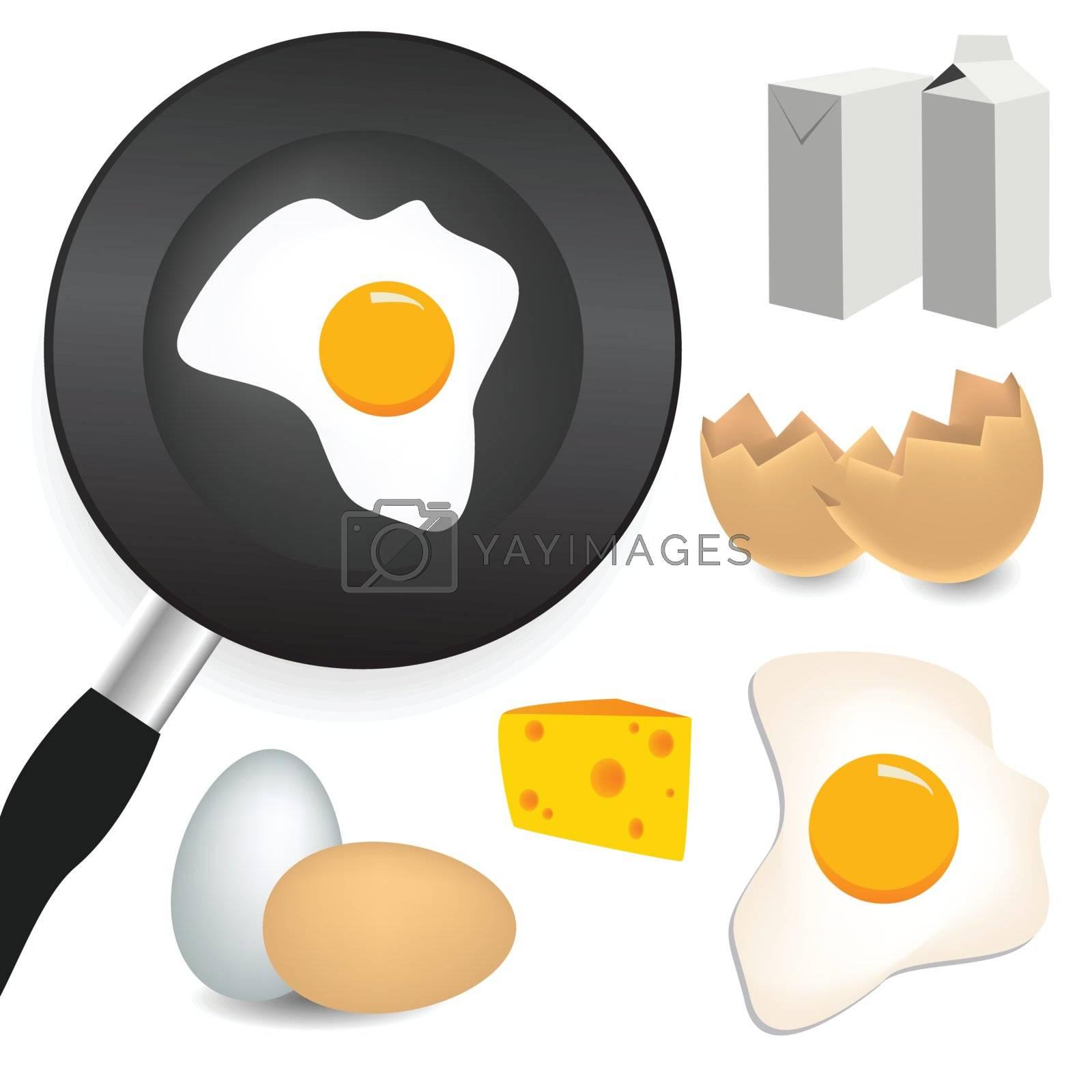 Royalty free image of breakfast set by emirsimsek
