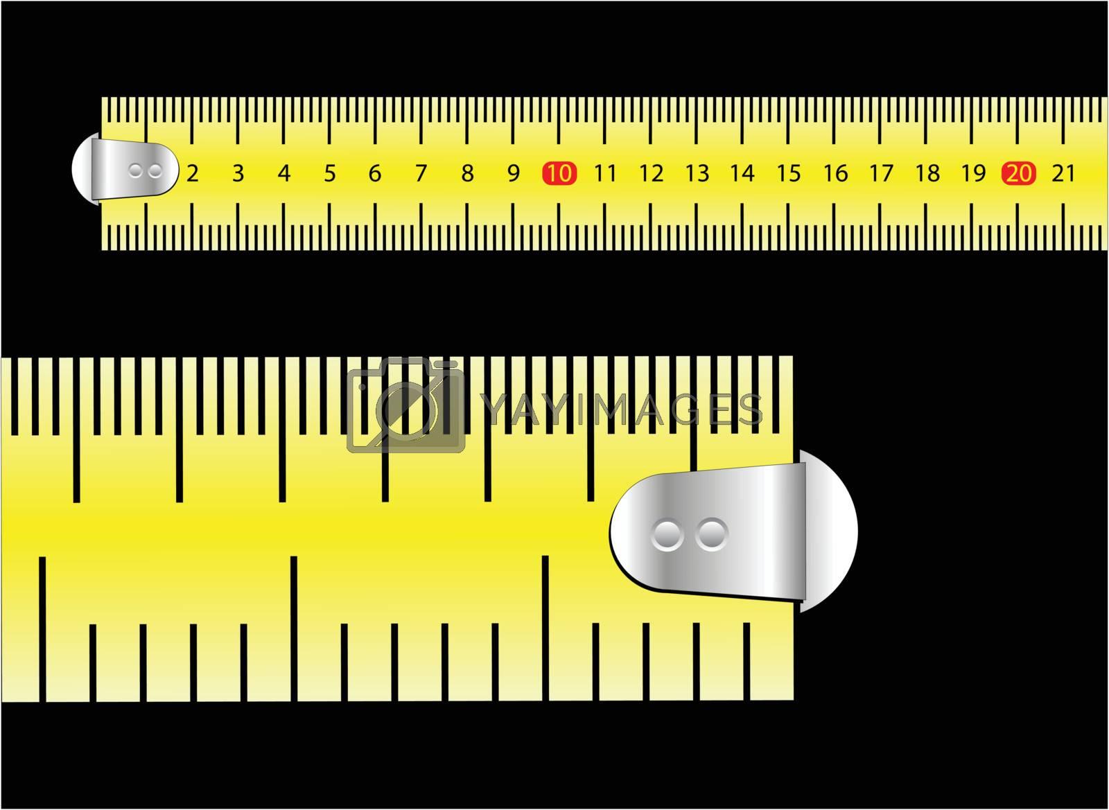 Royalty free image of tape measure by emirsimsek