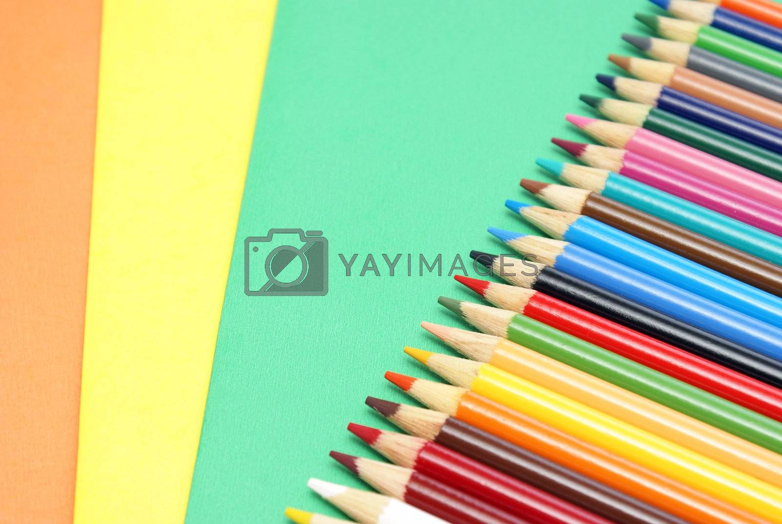 Royalty free image of Pencil Crayons by AlphaBaby