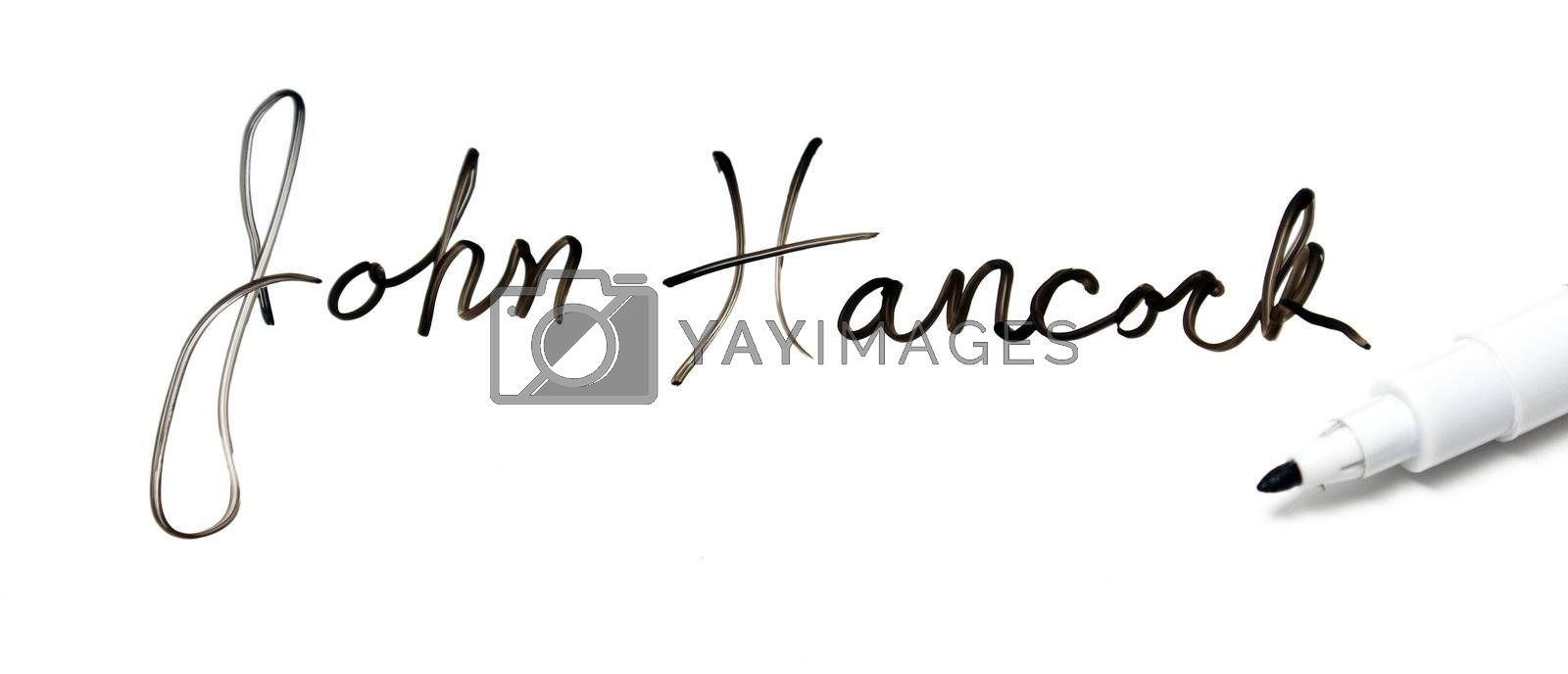 Royalty free image of Give me your John Hancock by AlphaBaby