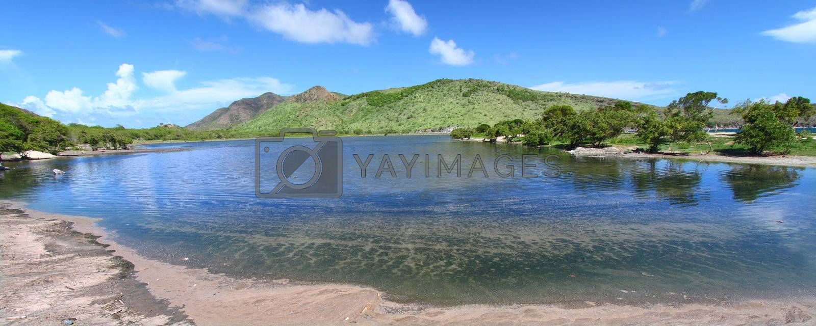 Royalty free image of Beautiful lagoon on Saint Kitts by Wirepec