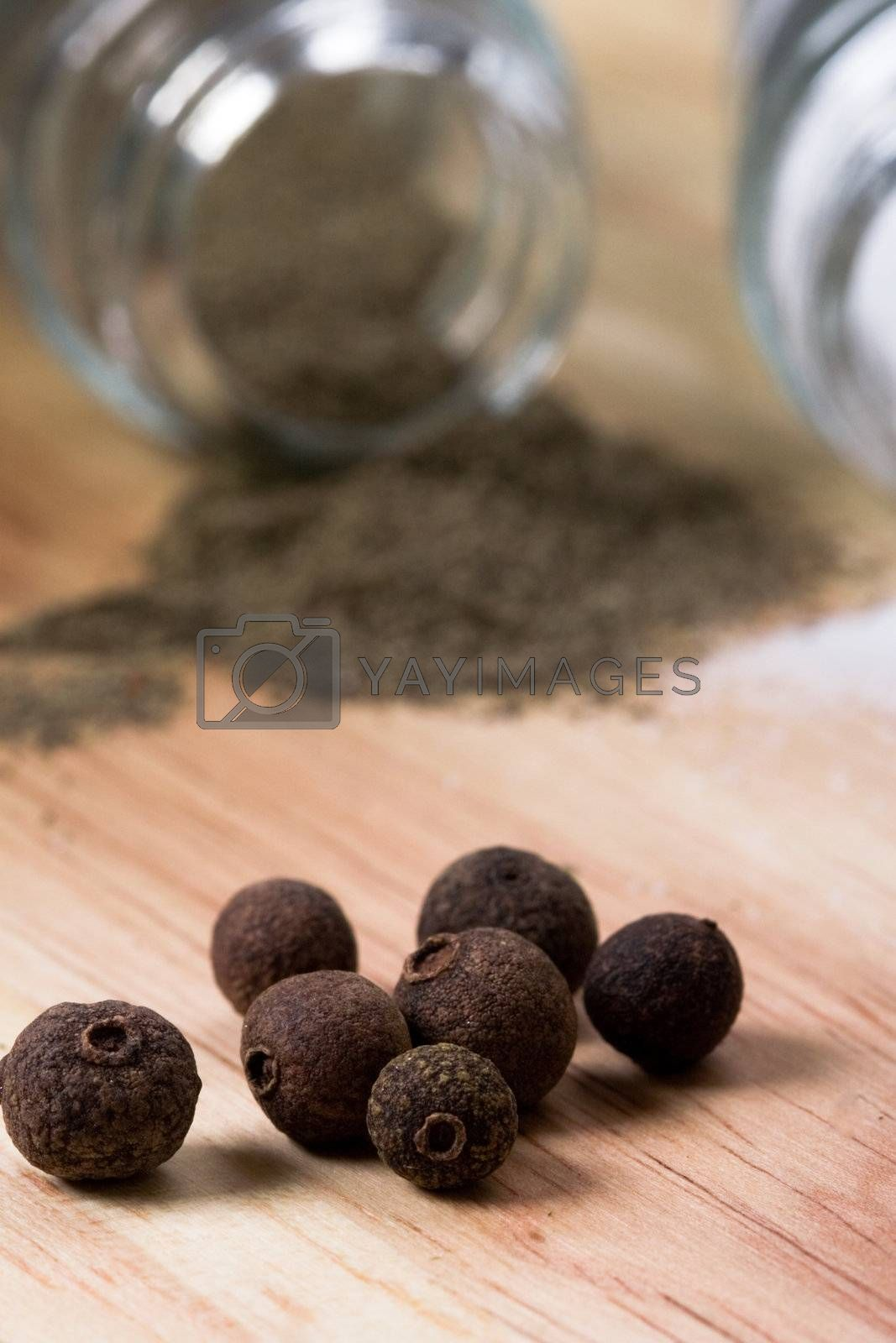 Royalty free image of pepper on wooden background  by marylooo