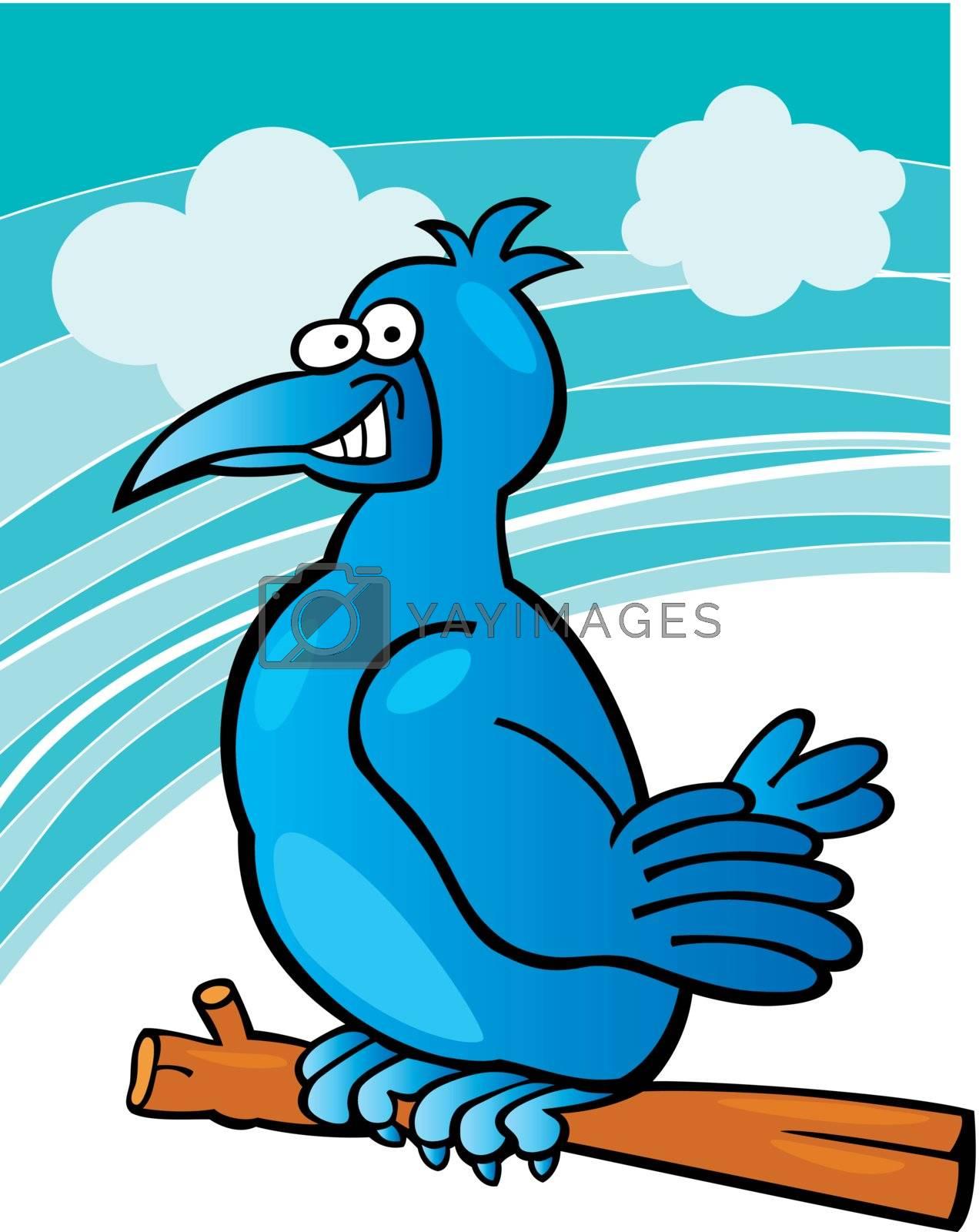 Royalty free image of blue bird by izakowski