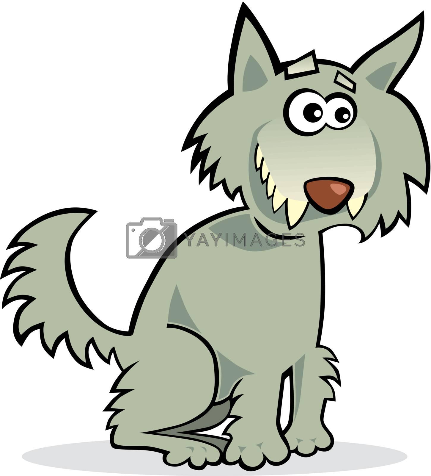 Royalty free image of funny wolf by izakowski