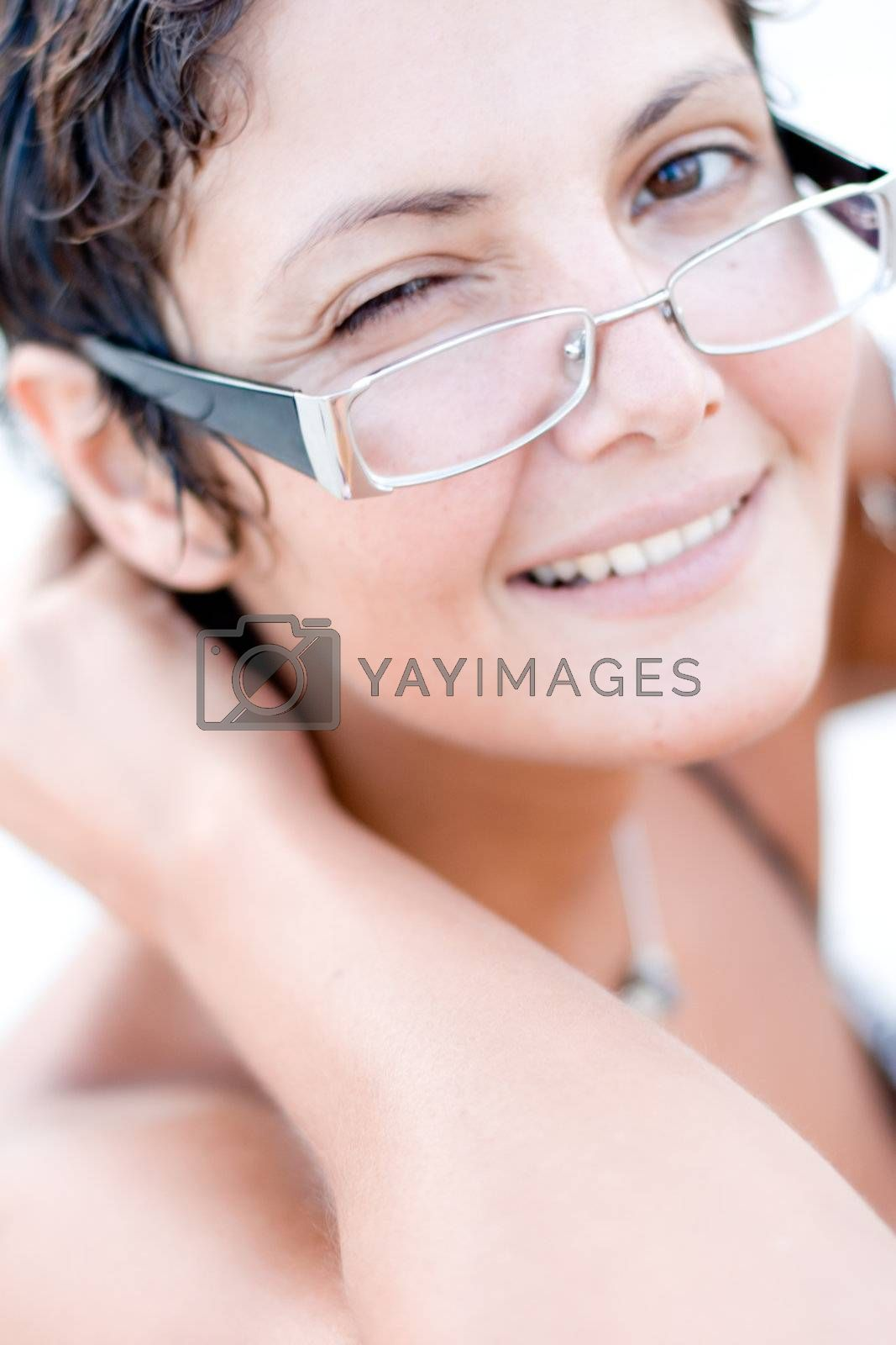 Royalty free image of attractive brunet woman by marylooo