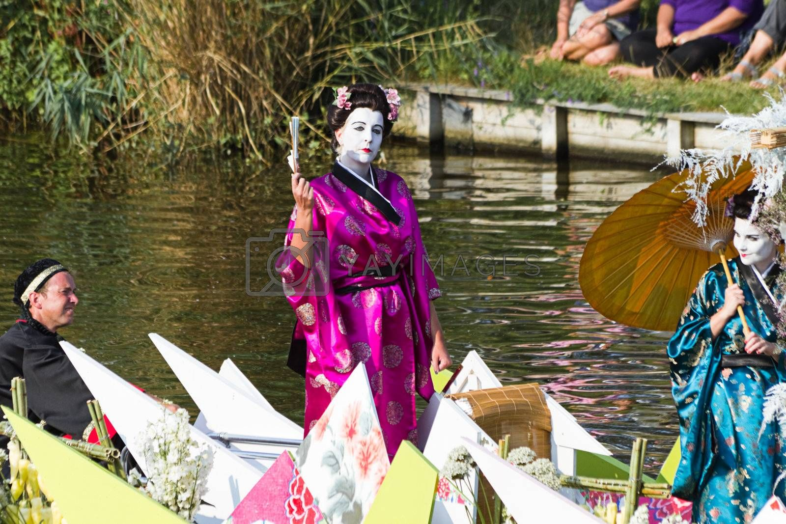 Royalty free image of Westland Floating Flower Parade 2010, The Netherlands by Colette