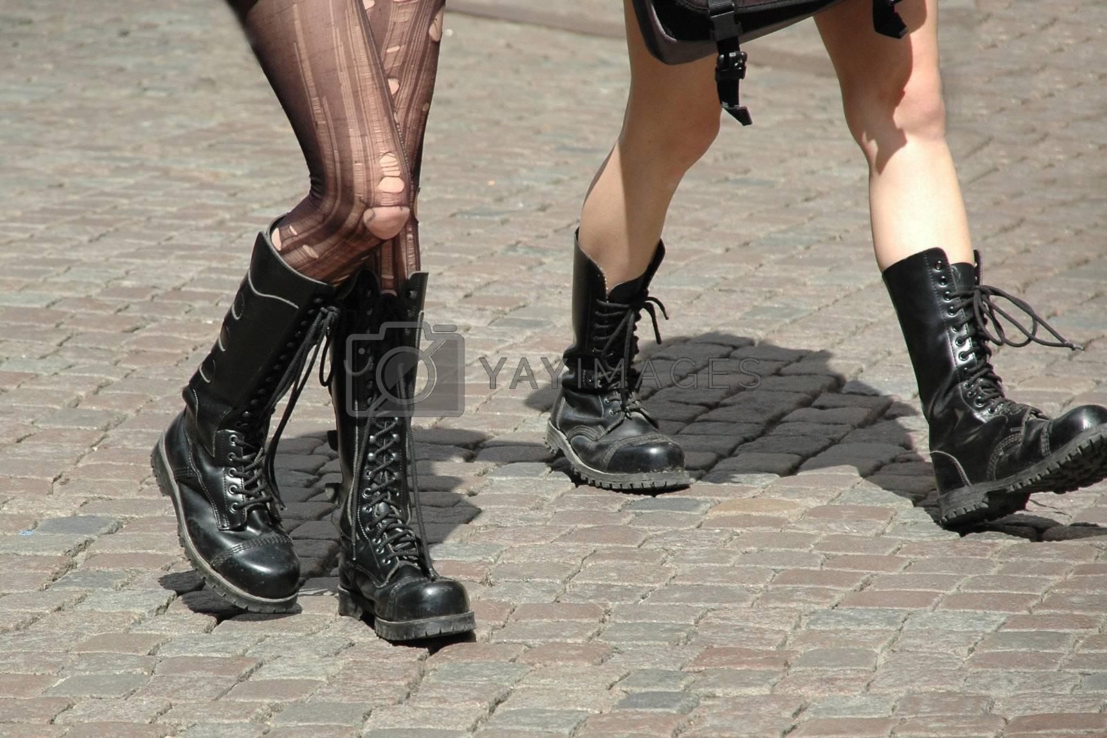 Royalty free image of Girls walking by cfoto