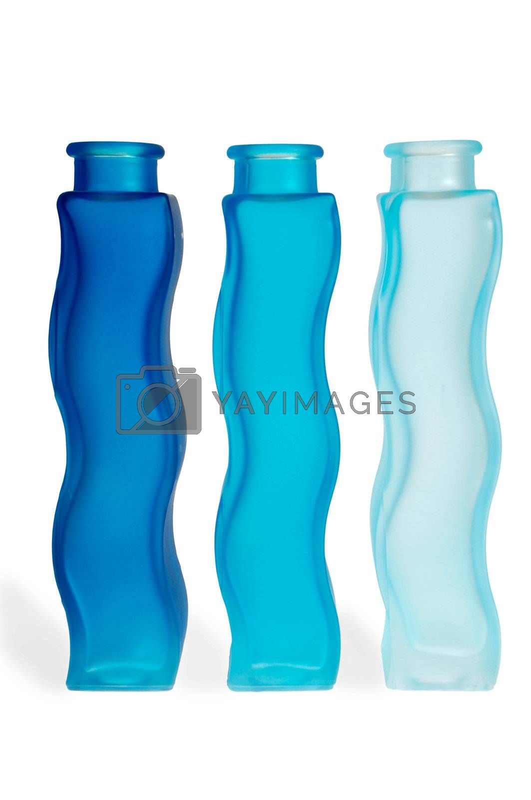 Royalty free image of Blue bottles by cfoto