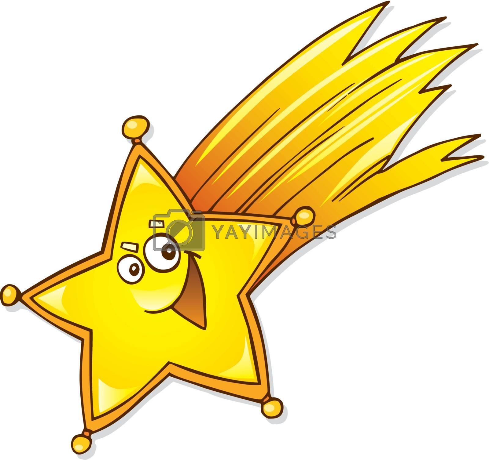 cartoon vector illustration of christmas star