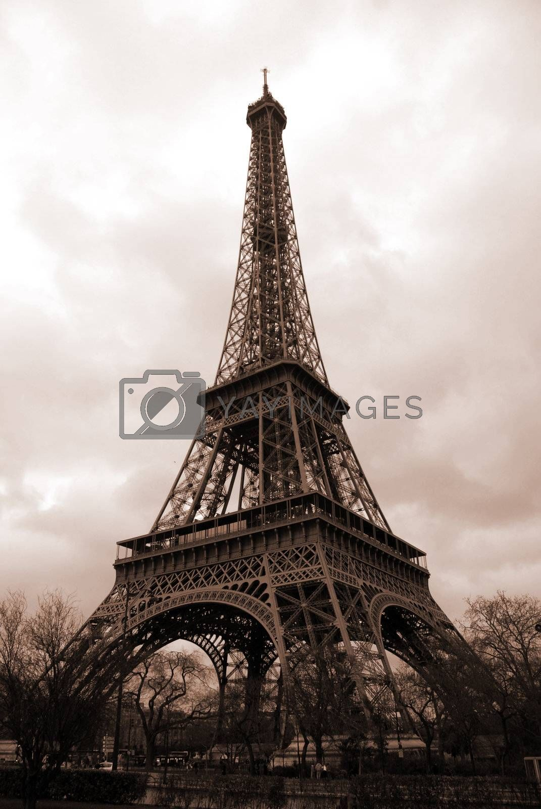 eiffel tower, majestic construction in iron in Paris