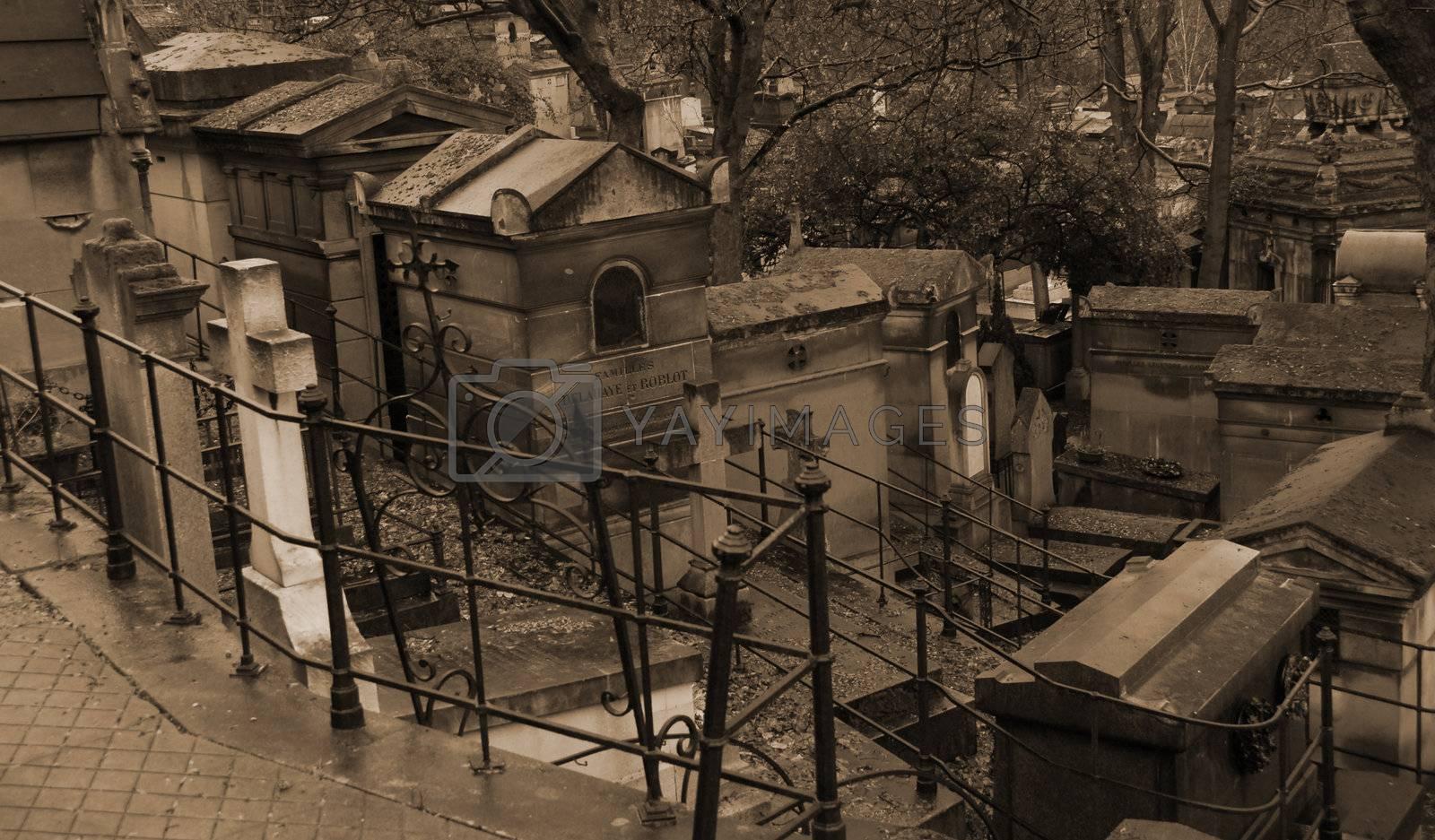famous Graveyard P�re Lachaise in Paris, France