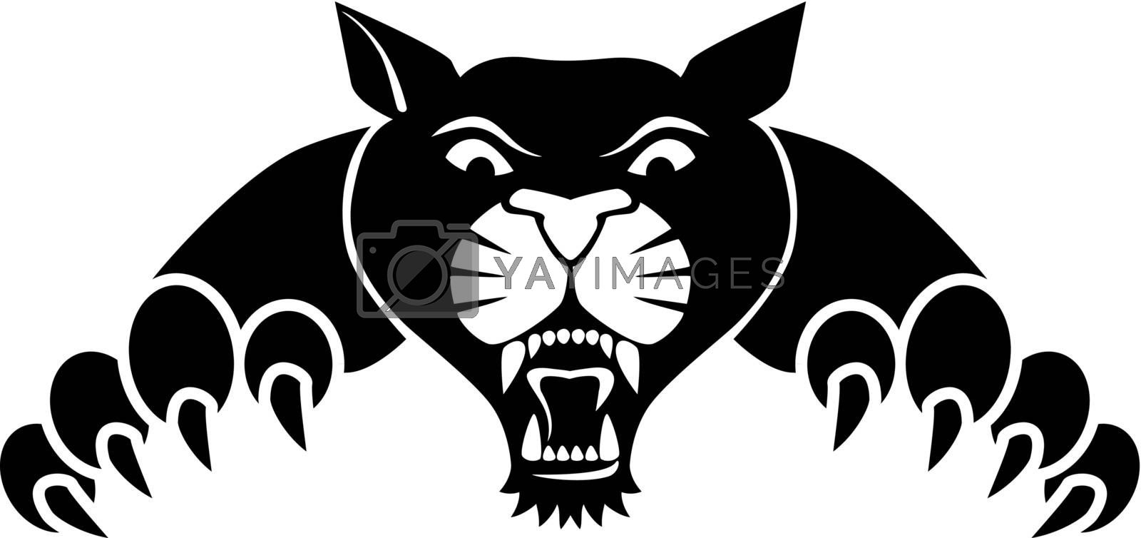 Vector illustration of Tiger silhouette