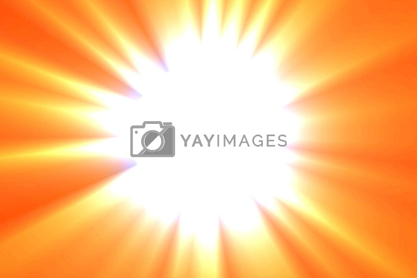 abstract sun or explosion background with copyspace for text message