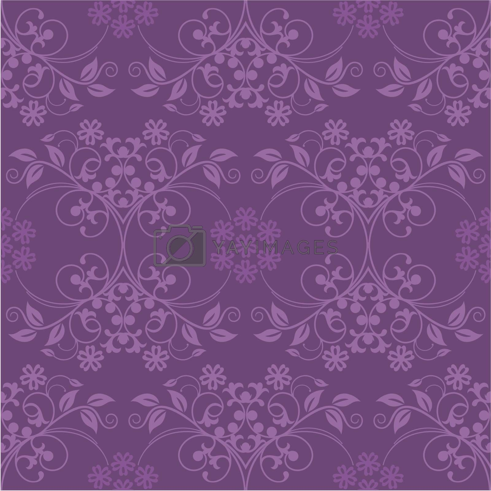 Beautiful seamless purple wallpaper vector illustration