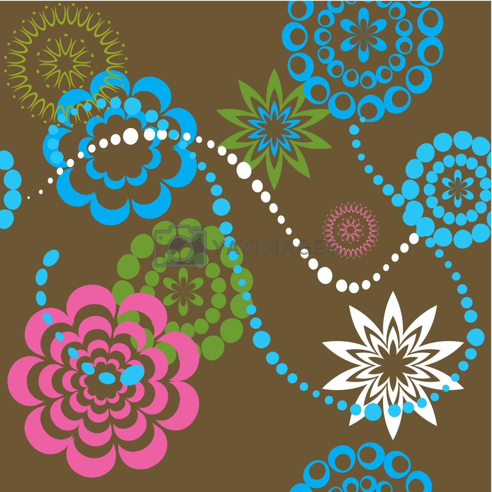 Flower Nature Background. Vector Illustration