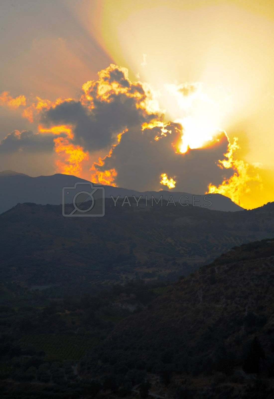 Royalty free image of Dawn over the hills by DeusNoxious