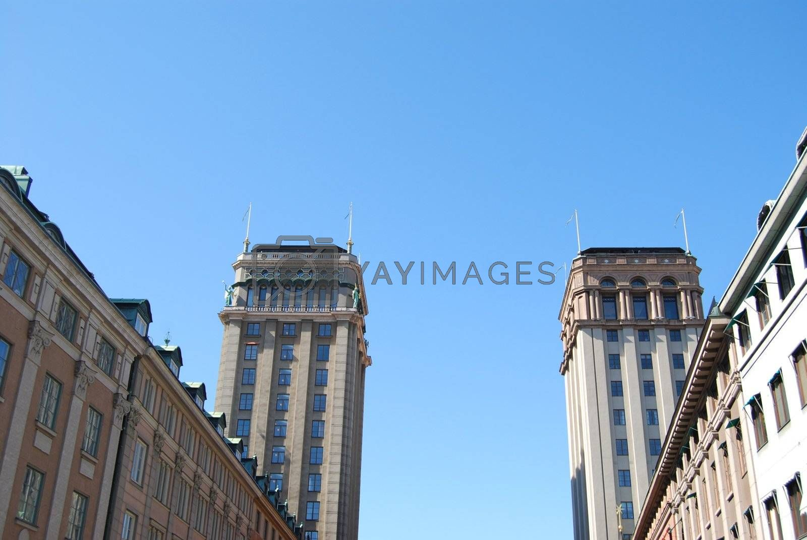 First highrisebuilding in Europe build in 1910 and 1920 kungsgatan in Stockholm