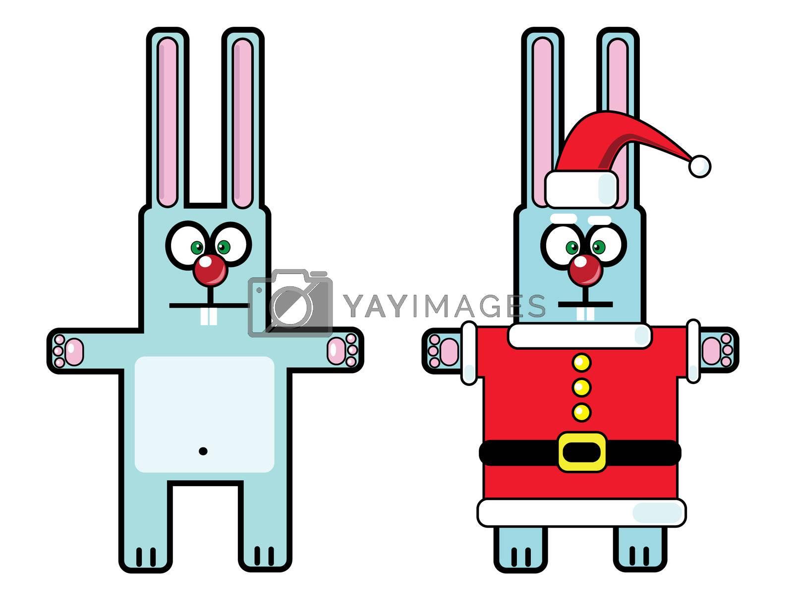 rabbit (symbol 2011) in Santa Claus costume
