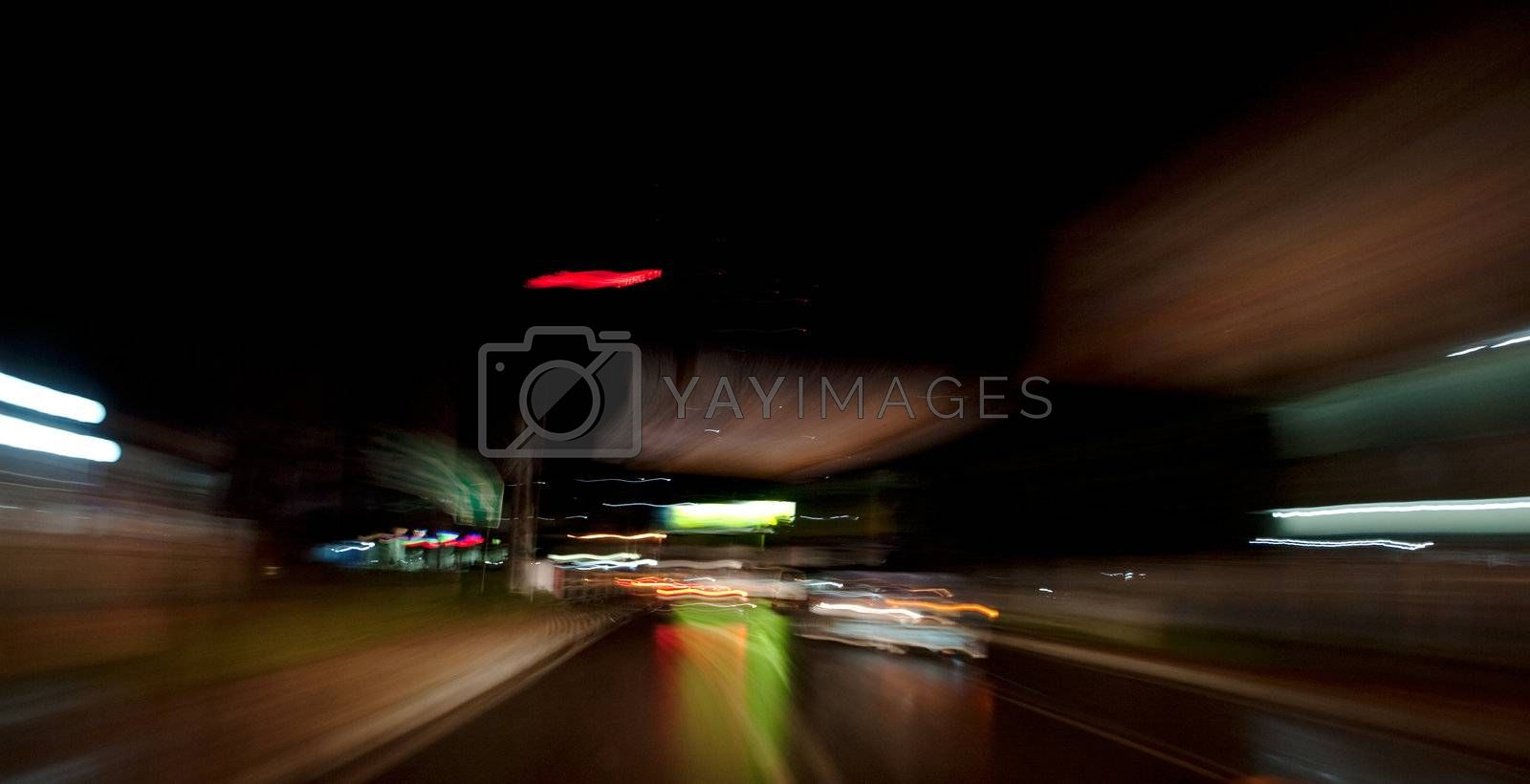 Night driving abstract background